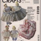 McCalls Crafts 6033 - Precious Collections - 15 Inch Dolls, Clothing, Accessories