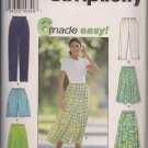 Simplicity 7655 Misses Pants, Shorts, Skirt Sz. XS-M - 6 made easy