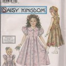 "Simplicity 7550 Daisy Kingdom Girls Dress Sz. 7, 8, 10, 12 & Matching Dress for 17"" doll"