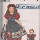 """Daisy Kingdom Simplicity 5819 Girls Dress -Sz. 5-8 with Matching 18"""" Doll Dress"""