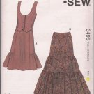Kwik Sew 3495 - Misses Vest &  Tiered Skirt - Western-Style  -XS-XL