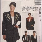 Out of Print McCalls 7329 Creative Woman Jacket, Collars - sz. 18