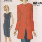 Vogue 7469 -koko beall Misses Jacket  & Sheath Dress - Sizes 18, 20, 22