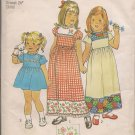Vintage Simplicity 7199 Girls Dress with Cross Stitch Transfer - SiZe 5