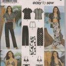 Simplicity 7231 Shirt, Pants, Shorts, Sarong Skirt, Bikini and Bag - Sz. 4, 6, 8, 10