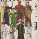 Vintage Nativity Scene Costumes for Children McCalls 7733 -sz. 8-10