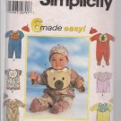 Simplcity 7827 Newbor-Large Baby Romper, Pajamas, Bib, Hat-Very Cute