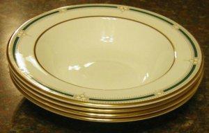 4 pc Arnolfo di Cambio 8.5 Rimmed Soup Bowl Bone 6418