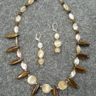 Tiger Eye Handmade Necklace Set 96-1704