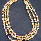 Natural mixed stone nuggets Tri-Strand Necklace 005 – 2002