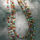 Mixed Natural Stone Nugget Tri-Strand Necklace 004 - 2001