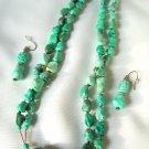 Double Strand Turquoise Pendant Set 184 – 1818