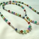 Mixed Natural Stone Bead Necklace 296-2019