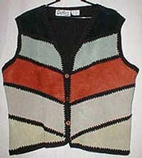 Knitted & Patchwork Suede Vest