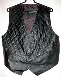 Quilted Authentic Leather Vest