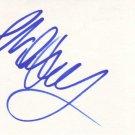 Rebecca De Mornay Autographed Index Card