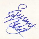 Sunny Mabrey Autographed Index Card