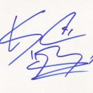 KC Haley Autographed Index Card