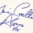 Maria Conchita Alonso Autographed Index Card