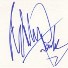 Edward Furlong Autographed Index Card