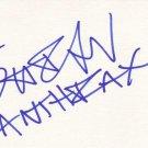 Scott Ian Autographed Index Card