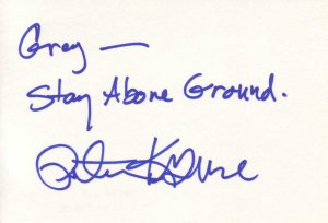 Peter Krause Autographed Index Card