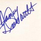 Nancy Dussault Autographed Index Card