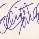 Elliott Gould autographed 3 x 5 index card