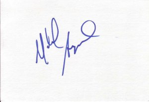 Michael Angarano Autographed Index Card