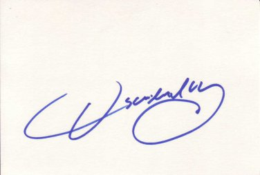 Oscar De La Hoya Autographed Index Card