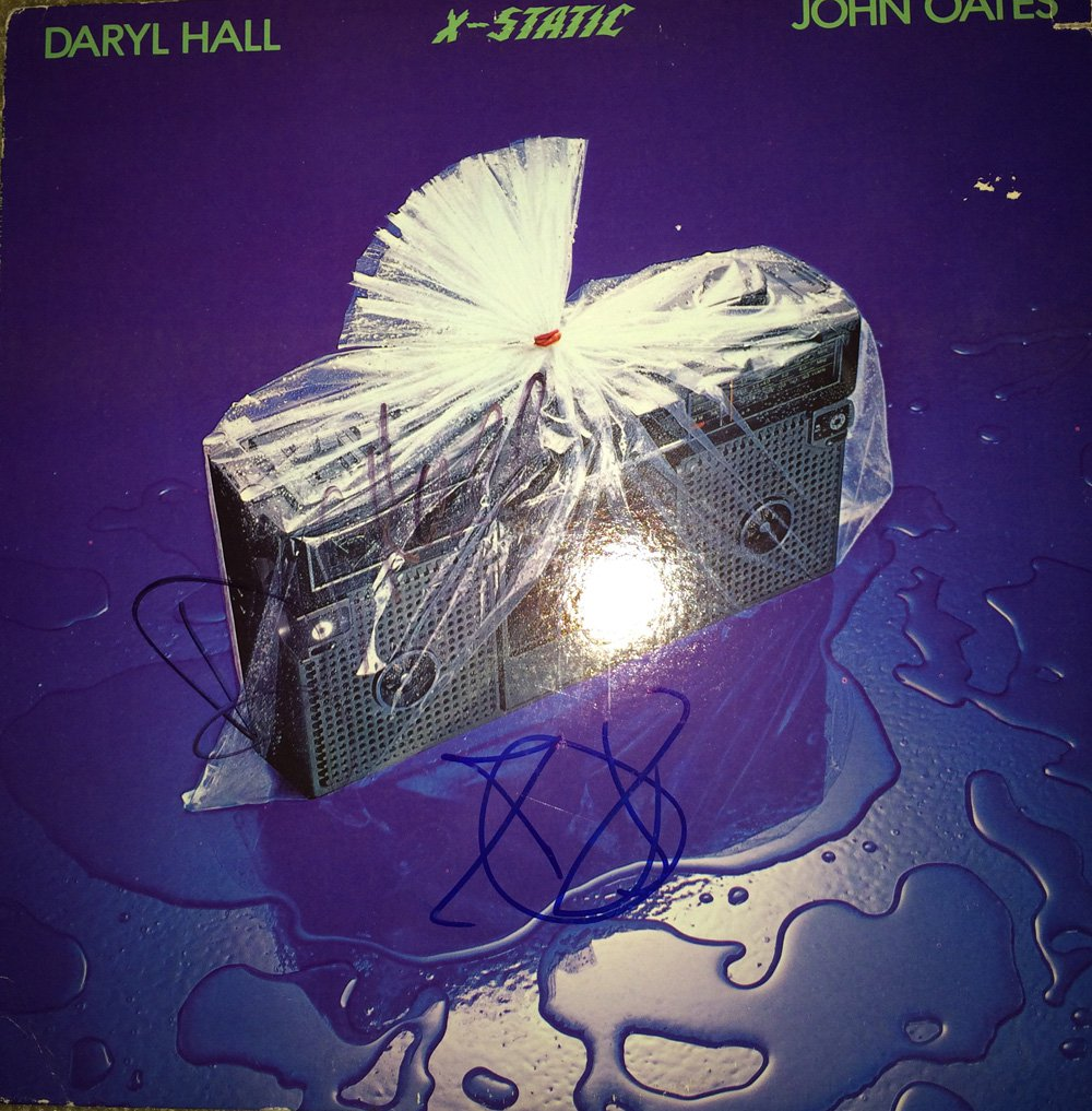 Hall & Oats in-person autographed X-Static LP