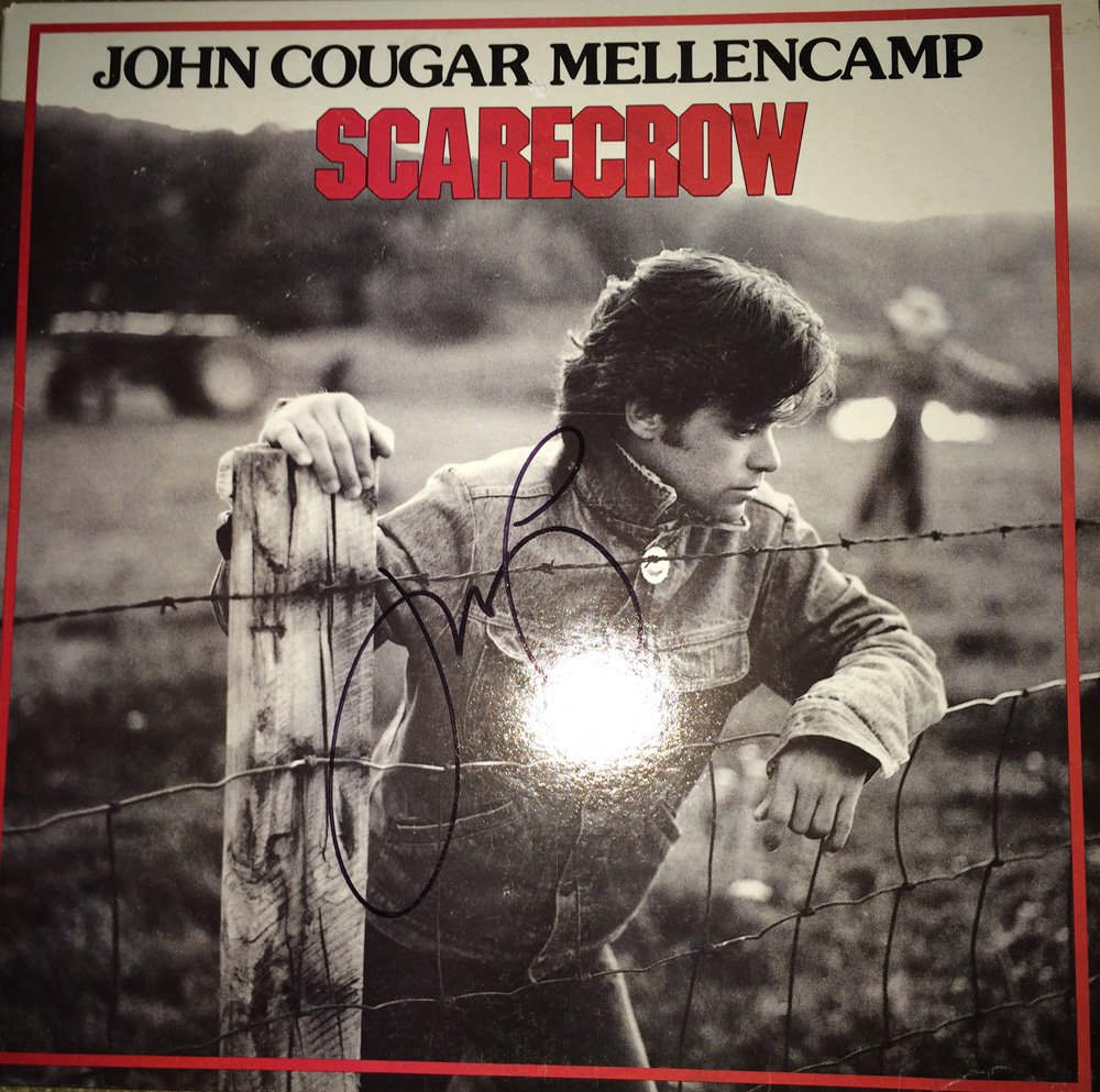John Cougar Mellencamp in-person autographed Scarecrow LP