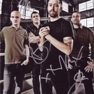Rise Against In-person Autographed Group Photo