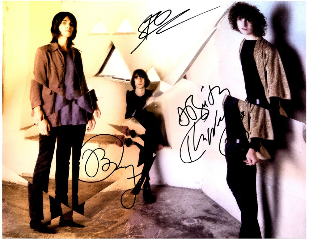 Temples in-person autographed 11 x 14 band photo by all 4