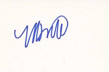 Montel Williams Autographed Index Card