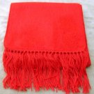 Scarf Alpaca Scarf Bright Red Made in Peru