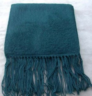Scarf  Alpaca Scarf Dark Teal Made in Peru