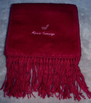 Scarf Alpaca Scarf Dark Red Made in Peru
