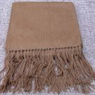 Scarf  Alpaca Scarf Heather Brown Hypo-Allergenic Made in Peru