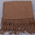 Scarf  Alpaca Scarf Cocoa Brown Hypo-Allegenic Made in Peru
