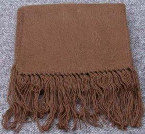 Scarf  Alpaca Scarf Cocoa Brown Hypo-Allegenic Made in Peru