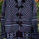 Sweater  Alpaca Sweater Womens Blue and White Extra Small