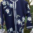 Alpaca Sweater Womens Extra Small Navy Blue