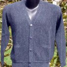 Sweater Alpaca Mens Sweater Dark Gray  Size Extra-Large