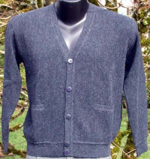 Sweater Alpaca Mens Sweater Dark Gray  Size Extra-Large
