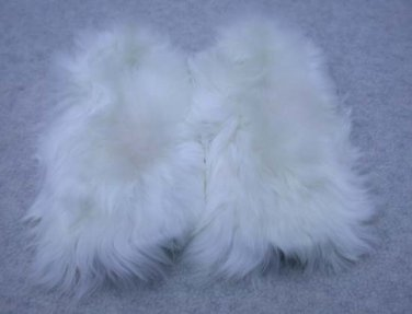 Alpaca Fur Slippers Youth Size 13