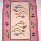 Alpaca Wool Tapestry Pink Tulip Design
