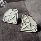 White Diamond Stud Earrings
