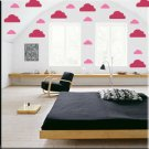 34 1 inch Clouds Vinyl Wall Decor Stickers