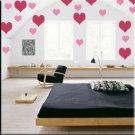 136 1 inch Hearts Vinyl Wall Decor Stickers